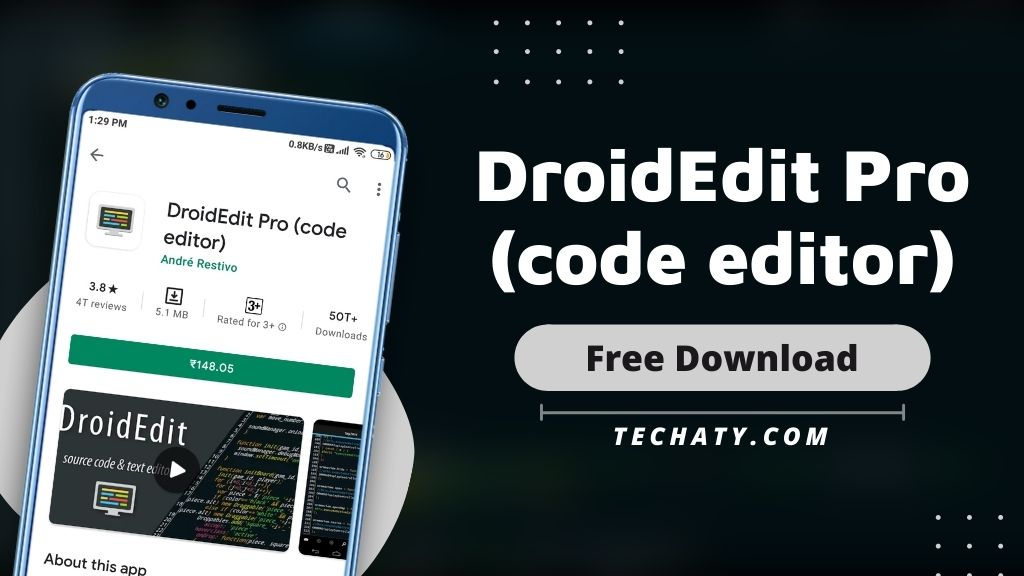 DroidEdit Pro Apk 1.23.7 (Paid For Free)