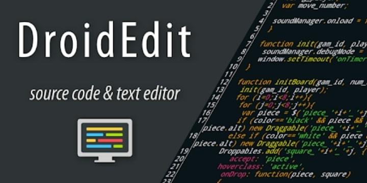 DroidEdit Pro (code editor) Apk 1.23.7 Download